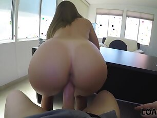 Rude Loan Agent Films How He Bangs Cute Chick For A Credit